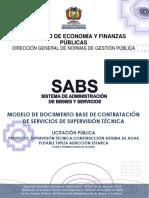 Dbc de Servicios de Supervisión Técnica - Lp - Sap Tupiza Aduccion Estarca