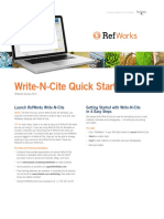 RefWorks Write-N-Cite User Guide