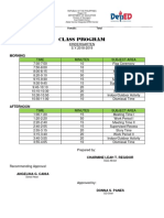 Kinder Class Program