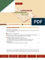 Caucasus Analytical Digest 103