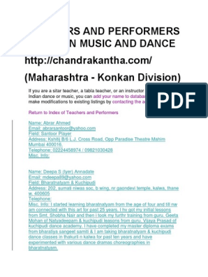 Teachers and Performers of Indian Music and Dance Maha | Performing