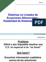 Sistemas No Lineales de Ecuaciones Diferenciales - Estabilidad de Sistemas de EDO