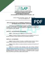 Edital LAP 2018.1