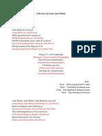Lirik Dan Arti Lagu Anak Medan