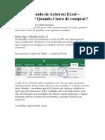 Monitoramento de Ações No Excel
