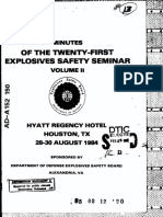 Minutes of the Twenty First Explosives Seminar
