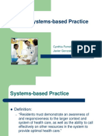 QI – Systems-based Practice