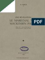 Le Maréchal Von Mackensen Parle...
