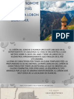 Informe Cañón de Sonche