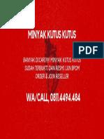 Call/WA,0811-4494-484, Minyak Kutus Kutus.