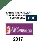 Plan de Contingencia Ante Emergencias Multiservis