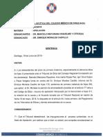 RESOLUCIÓN COLEGIO MÉDICO CAUSA ROL N°002-18