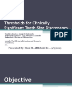 Hani6_Thresholds for Clinically Significant Tooth-Size Discrepancy