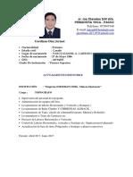 Modelo CV Topografo