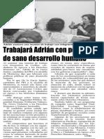26-06-18 Trabajará Adrián con políticas de sano desarrollo humano