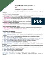 Cuestionario de Medicina Legal III