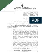 PLC - Altera LC 278.2016 - Militares - Subsídio - Soldo superior