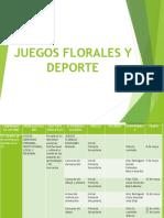 Juegos Florales y Deporte 2018