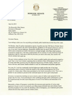 Sen. Nasheed's letter to Gov. Parson