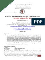 Programa de Metodos Cuantitativos II