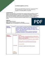 Secuencia Didáctica Para Literatura Argentina y Con Tic