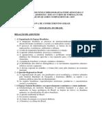 Relação de Assuntos e Bibliografia Prova de Conhecimentos Gerias CFO QC