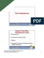 Free Testosterone Video Slides