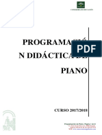 Programacion Piano 2017-18