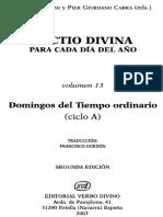 Lectio Divina 13 - Domingos Del Ciclo A