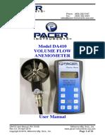 Anemometro DA410 User Manual