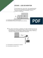 Exercícios Leis de Newton
