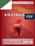 Sociology 2018 Catalog
