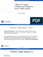 Trade Enforcement and Facilitation - Priority Trade Initiatives (2018-06-26)