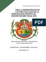 Directiva Caja Chica MD CONCEPCION 2015