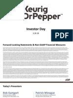 KDP DPS Keurig Dr pepper investor day march 2018