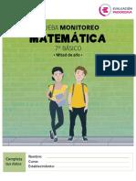 Prueba Monitoreo Matematica 7 Basico Color