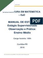 Manual Estagio Obs e Pratica Ensino Medio 2018