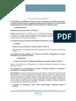Acta de Labor Parlamentaria 26-6