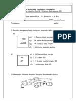 Avaliação de Matematica (1)