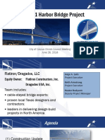 Flatiron-Dragados presentation on New Harbor Bridge Project, June 26, 2018