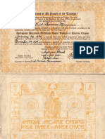 Amorc First Degree Certificate (1936)