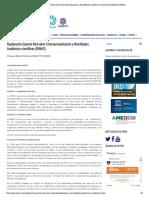 Reglamento General Red Sobre Internacio... Académico-científicas (RIMAC) _ RIMAC
