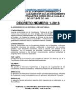Decreto 1-2016 Apostilla