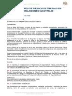 Acuerdo Ministerial 13. Reglamento de Riesgos de Trabajo en Instalaciones Eléctricas