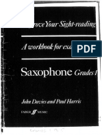 Sight Reading Saxophone