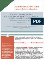 UNIDAD 2 Metodologia de Investigacion ArTES 2018
