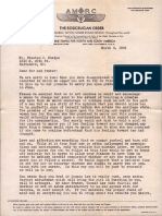 Letter by Clement B. LeBrun (March 6, 1935)