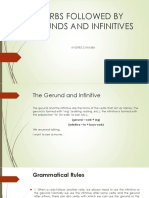 Verbs Followed by Gerunds and Infinitives