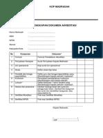0-Ceklist Kelengkapan Dokumen Akreditasi