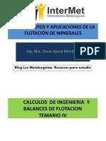 326066241-IV-CALCULOS-DE-INGENIERIA-Y-BALANCES-DE-FLOTACION-pdf.pdf